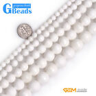 "Natural White Shell Gemstone Faceted Round Beads Free Shipping 15"" 6mm 8mm 10mm"