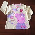 NEW***Peppa Pig Toddler GIRLS Long Sleeve Cotton Top***Yellow***Size 3-4