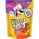 Purina Beggin' Strips Bacon and Cheese Flavors Dog Snack, 40 oz. Pouch, 1 Pouch