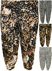 New Womens Plus Size Print 3/4 Short Ladies Baggy Harem Pants Trousers 12 - 26