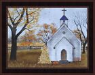 BLESSED ASSURANCE by Billy Jacobs 15x19 Church Corn Shock Pumpkin FRAMED PICTURE