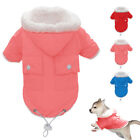 Dog Clothes Winter Medium Fleece Lined Dog Hoodie Snowsuit Jacket Coat Pink Blue
