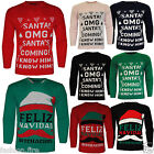 Unisex Men Womens XMAS Ladies OMG Santa Novelty Vintage Christmas Jumper Sweater