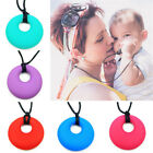 Baby Nursing Teething Necklace Chewable Round Silicone Pendant Teether Jewelry