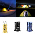 Pro Collapsible Rechargeable Solar Outdoor Camping Tent Lantern Light LED Lamps