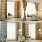 1Panel Modern Cationic jacquard Full window shade Curtains For Living Room HX