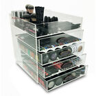 NEW! DELUXE MAKEUP ORGANIZER - ACRYLIC 5 TIER DRAWER COSMETIC DISPLAY CASE