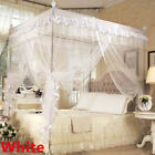 white bed canopy