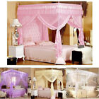 Princess 4 Corner Post Bed Canopy Mosquito Netting Single Double King All Size image