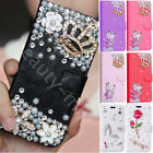 Girly Bling Diamond Rhinestone Wallet Leather Stand Case Cover For Smart Phones