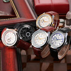 KS Roman 5 Colors Day Display Leather Band Mechanical Auto Watches Gents Gift C