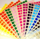 Small 10mm Square 6mm Circle Colour Code Dots Blank Price Stickers Sticky Labels