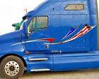 American flag Stripes Vinyl Graphic Decals for Semi trucks trailers and boats #2
