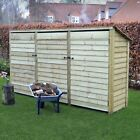 Empingham 6ft Outdoor Wooden Log Store - Reversed Roof - UK HAND MADE