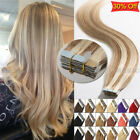skin weft hair extensions - Mix Colors 40pcs 100g Tape In Remy Human Hair Extensions Seamless Skin Weft USPS