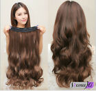 """USWC15"""" One Piece 5 Clips Wavy 100% Human Hair Clip In Human Hair Extensions 80g"""
