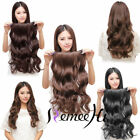 "USWC20"" One Piece 5 Clips Wavy 100% Human Hair Clip In Human Hair Extensions 80g"