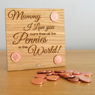 I Love You More Than All The Pennies In The World Unique Mothers Day Gift Plaque
