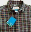 New! COLUMBIA Tribal Rival Onmi-Wick Shirt mens S blue/red plaid Evaporation NWT