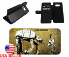 Star Wars AT-AT Leather Card Slot Flip Phone Case for LG Samsung Galaxy iPhone $19.99 USD
