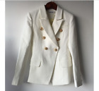 Womens New Occident High Quality Jacket Metal Head Buckle Double-breasted Coat