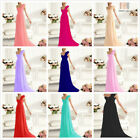 New Long chiffon Evening Ball Prom Gown Formal Bridesmaid Cocktail Party Dress
