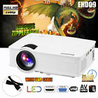 7000Lumen HD 1080P LED Projector 3D Home Cinema for Iphone Android+100'' Screen