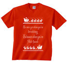 He Sees You When You're Drinking He Knows When You're Shi* Faced Santa T-Shirt