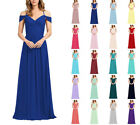 Formal Long Off Shoulder Bridesmaid Ball Gowns Party Cocktail Evening Prom Dress