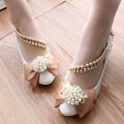 Luxury Womens Tassel Diamond Flowers Platform Wedding Bow Lace Up Dress Shoes