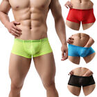 Underpants Sexy Men's Swimming Striped Boxer Breathable Elastic Briefs Shorts EC
