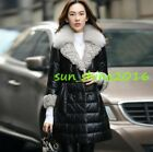 100% Real Genuine Sheep Leather Long Jacket Coat 90% Duck Down Women Fashion