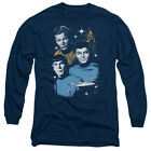 Star Trek Original Series ALL STAR CREW Licensed Adult Long Sleeve T-Shirt S-3XL
