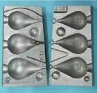 Pear lead Aluminium mould produces 3 pear leads with swivels 100,150.200grams