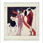 """GEORGES BARBIER """"Red Tree"""" CANVAS OR PAPER choose SIZE, from 55cm upwards, NEW"""