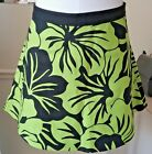 Women's Size 8 Micheal Kors Skirt In Black & Spring Green Floral Print