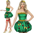 FEVER FESTIVE CHRISTMAS TREE COSTUME LADIES XMAS PARTY FUN FANCY DRESS WOMENS