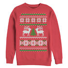 Lost Gods Reindeer Tree Ugly Christmas Sweater Print Womens Graphic Sweatshirt