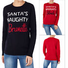 Brave Soul Womens Naughty Santa Christmas Jumper Ladies Novelty Slogan Sweater
