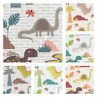 T REX DINOSAUR 100% COTTON FABRIC CHILDREN NURSERY BOYS