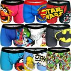 Mens Marvel Superman Football Boys Designer Boxer Trunks Shorts Underwear