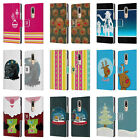 HEAD CASE DESIGNS MIX CHRISTMAS COLLECTION LEATHER BOOK CASE FOR MOTOROLA MOTO M
