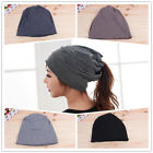 New Ladies Women Dual-Use Bobble Hat&Snood Scarf Winter Warm Shawl Beanie Cap