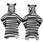 Nifty Kids Soft Cotton Zebra Hooded Poncho Towel Childrens Bath & Beach Wear