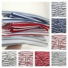 French Breton Cotton Jersey Fabric Stripe Stripes Dressmaking Stretch