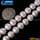 """Natural Grade AAA Freshwater White Pearl Near Round Beads Free Shipping 15"""""""