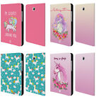HEAD CASE DESIGNS SASSY UNICORNS LEATHER BOOK CASE FOR SAMSUNG GALAXY TABLETS