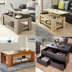Modern Coffee Table Lift-Up Shelf Occasional Living Room Furniture new