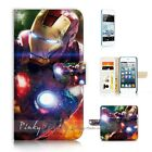 ( For iPod Touch 5 ) Wallet Case Cover P21173 Ironman Iron Man