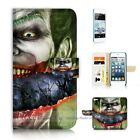 ( For iPod Touch 5 ) Wallet Case Cover P21181 Joker